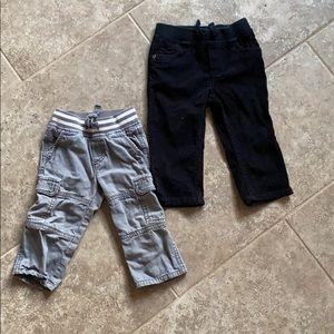 12-18 mo baby boy pants (2 pairs!)